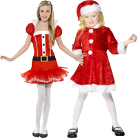 Girls Miss Christmas Costumes