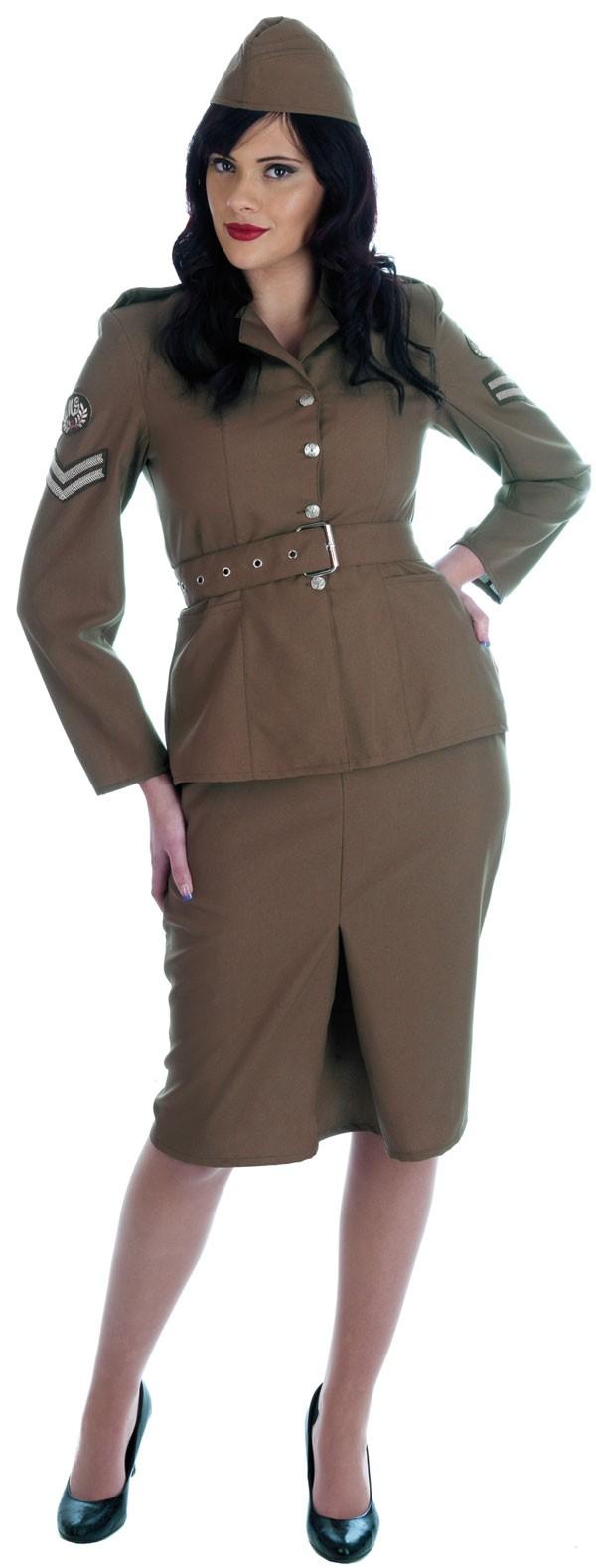WW2 Army Girl Costume - Cheap Fancy Dress - photo #33