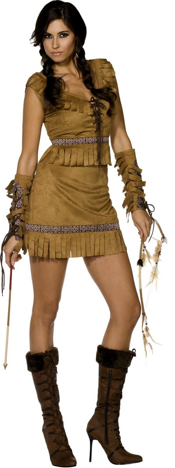 fever pocahontas costume cheap fancy dress. Black Bedroom Furniture Sets. Home Design Ideas
