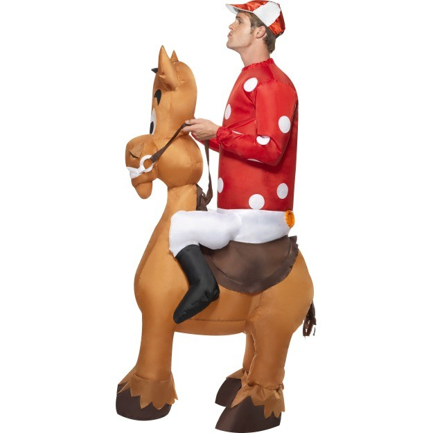 Inflatable Horse And Jockey Costume - Cheap Fancy Dress