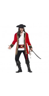 Plus Size Curves Pirate Captain Costume