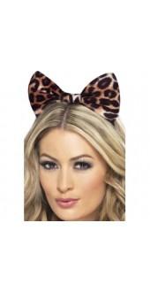 Leopard Bow On Headband