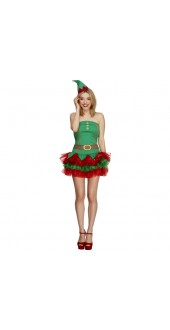Ladies Sexy Christmas Elf Costume