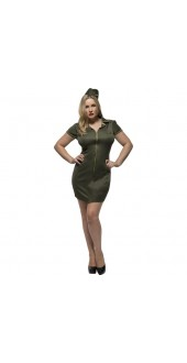 Plus Size Ladies Army Costume