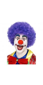 Crazy Clown Wig, Purple