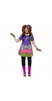 Plus Size 80's Rock Chick Costume