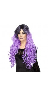 Purple Gothic Glamour Wig