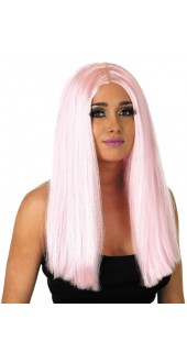 Pink Centre Parting Wig