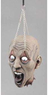 Hanging Dead Head With Chain Prop