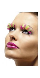 Muliti Coloured Feather Eyelashes