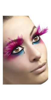 Pink Feather Plume Eyelashes