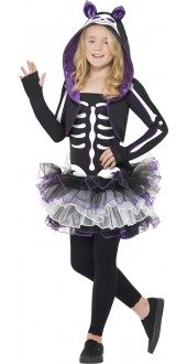 Pufple Skelly Cat Costume