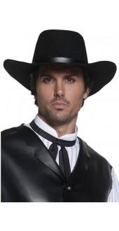 Gunslinger Cowboy Hat Black