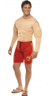 Muscle Chest Baywatch Costume