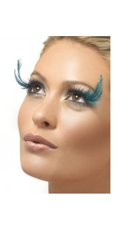 Black And Green Feather Plume Eyelashes