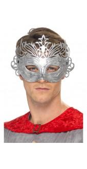Metallic Silver Colombina Eye Mask