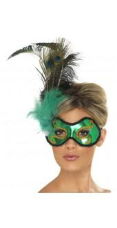 Emerald Peacock Eye Mask