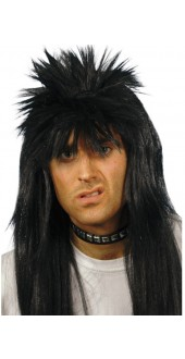 80s Punky Wig Black