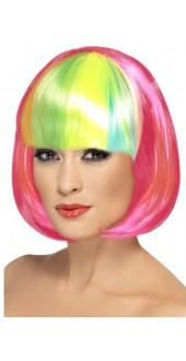 Partyrama Wig Neon Pink