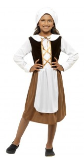 Girls Tudor Girl Costume