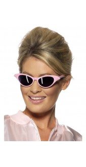 50's Pink Rock And Roll Glasses