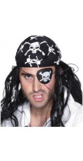 Eye Patch Pirate Skull and Crossbones Smiffys