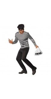 Mens Bank Robber Fancy Dress Costume