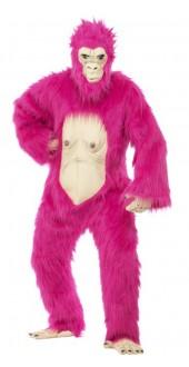 Deluxe Neon Pink Gorilla Costume