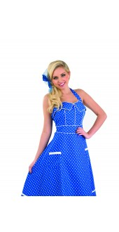 Ladies 1950s Blue Day Dress Costume