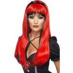 Red Over Black Bewitching Wig