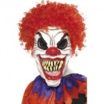 Scary Clown Mask, Foam Latex, With Hair