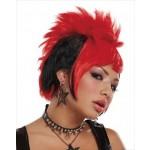 Red & Black Punk Wig