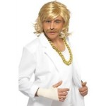 Game Show Host Kit, Wig and Tash,Blonde