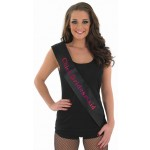 Black Chief Bridesmaid Sash