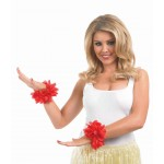 Red Lei Wrist Garlands