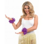Purple Lei Wrist Garlands