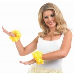 Yellow Lei Wrist Garlands
