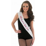 White Bride to be sash