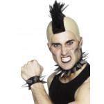 Mens Punk Choker And Wristband