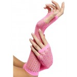 Fishnet Long Pink Gloves