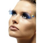 Eyelashes Blue With Feather Plumes