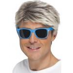 Blue 80's Neon Glasses