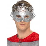 Metallic Silver Colombina Eye Mask