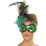 Emerald Peacock Eye Mask
