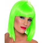 Neon Green Glam Wig