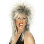 Rock Diva Wig Black And Blonde