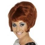 60s Beehive Wig Auburn