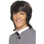 60s Male Mod Wig Brown
