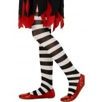 Tights Black and White Striped, Age 6-12