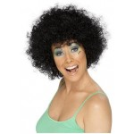 Black Curly Wig Smiffys